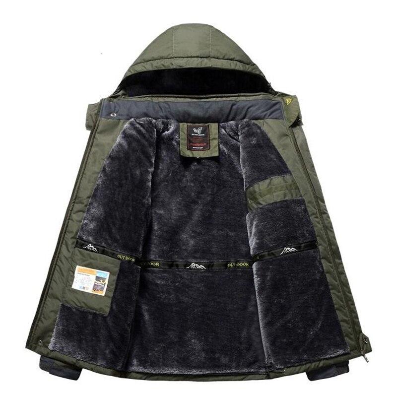 Зимняя мужская куртка 2020, толстая теплая водонепроницаемая парка с капюшоном, ветровка, военная флисовая куртка, размер 8XL, Jaqueta Masculina|Куртки|   | АлиЭкспресс