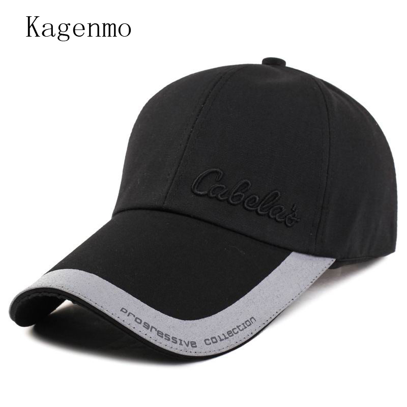 Kagenmo Long brim sun hat large shade baseball cap fashion breathable sport visor male female spring hats adjustable beret women ladies polyester wide large brim hat summer beach sun visor removable breathable cap