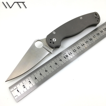 WTT Folding Survival Hunting Knife CPM S30V Blade TC4 Titanium Handle Tactical Combat Pocket Knives Utility Camping EDC Tools