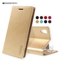 Phone Cover MERCURY GOOSPERY Blue Moon PU Leather Phone Case For Sony Xperia M4 Aqua Dual