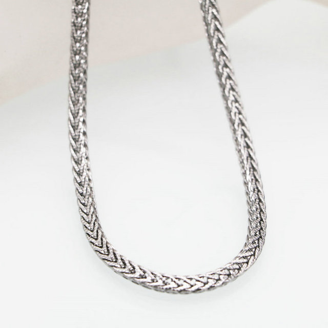4mm Silver Color Flat Snake Chain Necklace Mens Stainless Steel