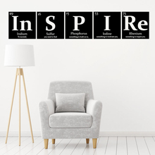 blingird periodic table elements wall decals wall stickers