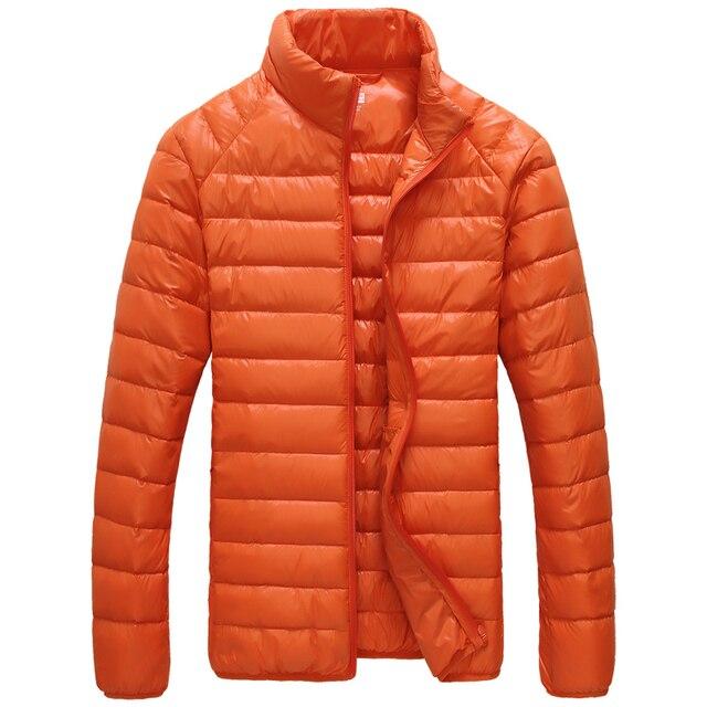 Горячие продажи одежды ку мужской тепловой ультра-легкие вниз пальто белая утка вниз c011 блузка