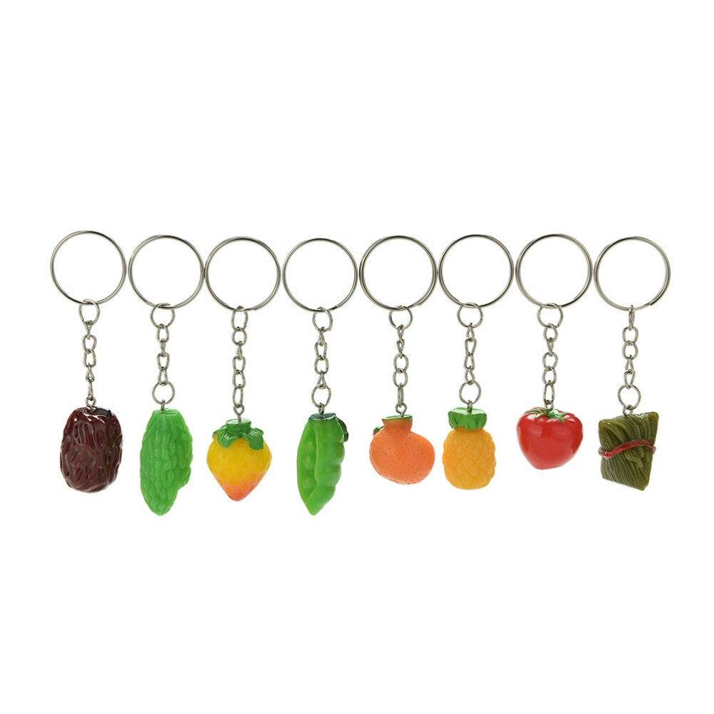 Healthy Food Keyring Diet Vegan Fruit Vegetables Keyring Gift #15905