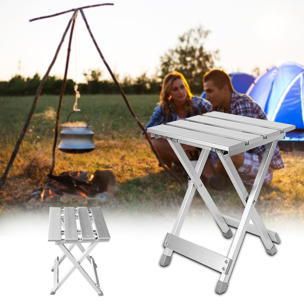 Space Saving Home Scratch Resistant Non Slip Aluminum Alloy Camping Outdoor Multifunction Folding Stool Fishing Portable Chair(China)