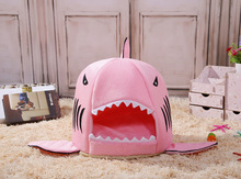 Warm Soft Dog House | Pet Sleeping Shark Kennel for Pet