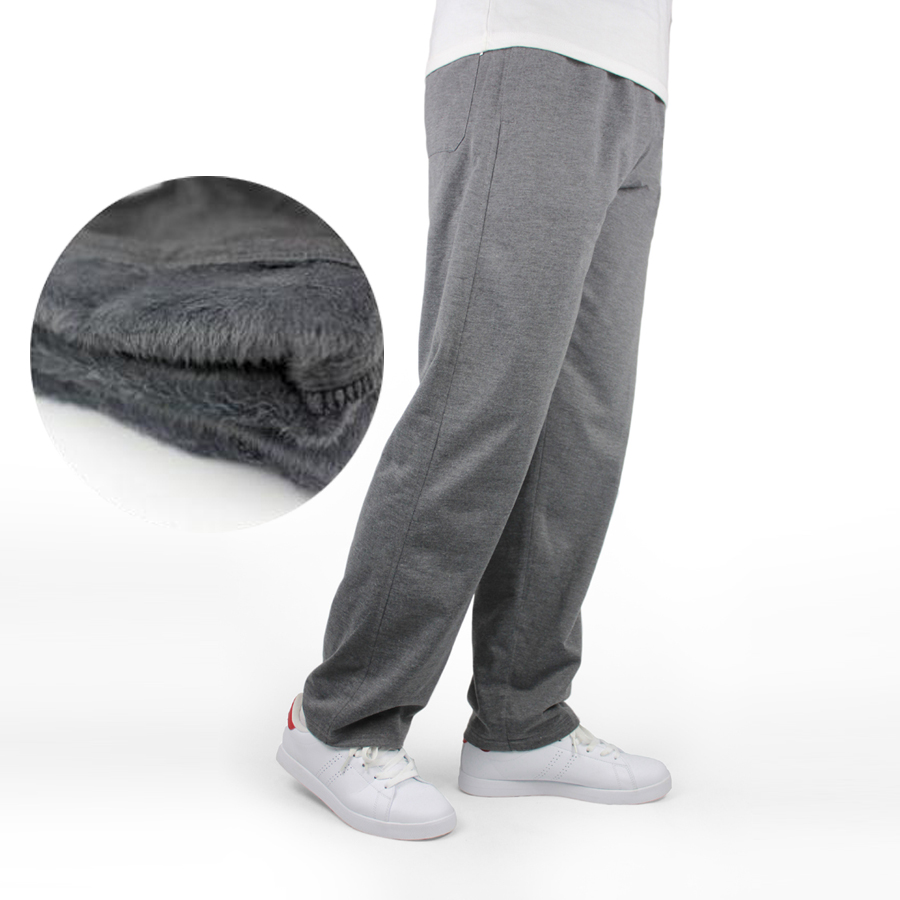 Ezsskj Men Winter Sweatpants Cotton Casual Pants Trousers