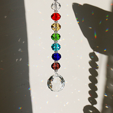H&D Shinning Crystal Suncatcher Hanging Ornament Chakra Rainbow Decoration Window For Gifts