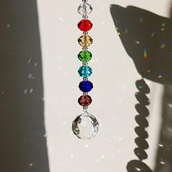 H & D Shinning Crystal Suncatcher wiszący ornament czakra Rainbow okno dekoracyjne Suncatcher na prezenty w Kryształy ogrodowe od Dom i ogród na