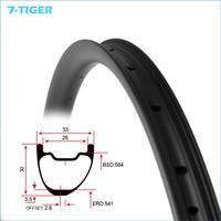 7 Tiger 27 5er Asymmetrical 2 8mm Offset Carbon Bicycle Rims 30mm Wide 33mm Deep 28