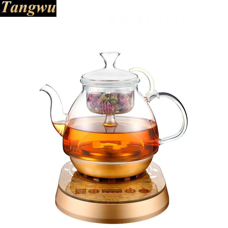 Fully automatic brewed tea - pot boiling black pu 'er electric kettle water glass black tea brewed machine glass automatic steam boiling pu er flower teapot insulation electric kettle