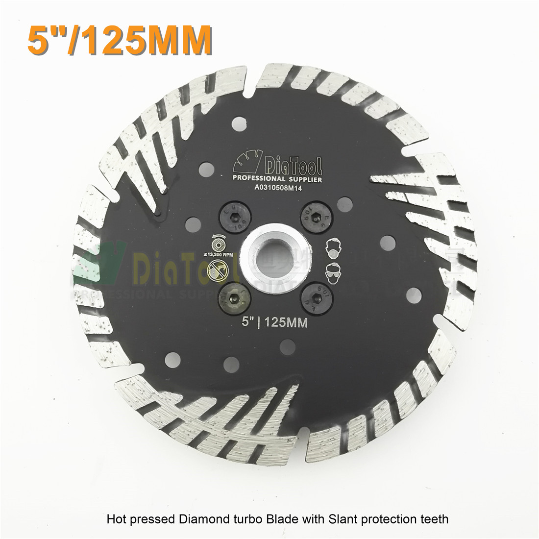 Diameter 5/125MM Diamond saw Blade cutting discs Deep teeth protect the core with M14 FLANGE granite masonry concrete Wheel