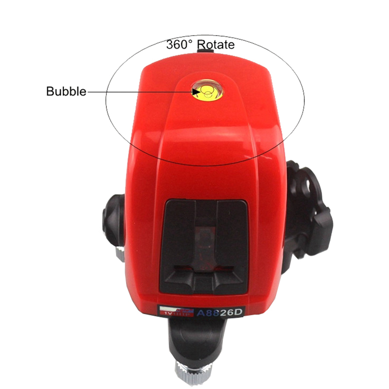 New Original High Quality Laser Level 2 with 1 Point 360 degree Rotation Self- leveling Rotary Self-leveling Cross Laser Meter bbloop email in self inking stamp rectangular laser engraved blue