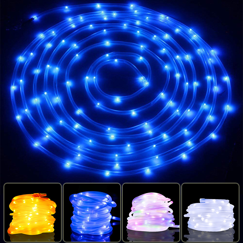 Garland String Lights 100 LED Solar Rope Tube Home Garden Lamp Christmas Decoration Fariy Patio Lights Guirlande Lumineuse Led