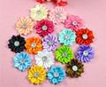 100pcs/lot mix color Kid Baby Girl 3.5cm sharp petal flower for Headband Hair Bow ,brooch , dresses DIY craft Corsage accessorie