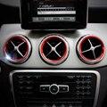 Estilo do carro, Anel Da Tampa Da Guarnição Decoração ar Condicionado Saída de Ventilação De Ar para Mercedes Benz A B W246 Classe W176 AMG Acessórios