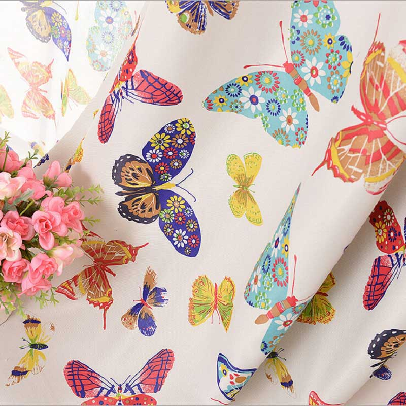 Cortinas Curtain Luxury Voile Tulle Soggiorno Cucina Camera da letto Kids Flower Colorful Butterfly Roma Tende oscuranti WP202 & 30