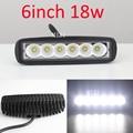 6 INCH 18 W LED Bar Offroad Trabalho barra 4X4 Off Road Luz ponto flood luz de Nevoeiro ATV UTV SUV CarTruck AUTO de Condução de Motocicleta luzes