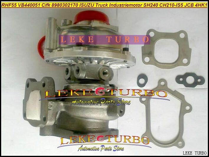 RHF55 VB440051 CIFK 8980302170 Turbo Turbocharger For HITACHI Industrial ZX240 For ISUZU Truck Industriemotor SH240 JCB 4HK1 rhf5 vb430056 vc430056 vd430056 vh430056 8972400082 897240 0083 turbo for isuzu qingling 600p nkr truck 4kh1t 4jh1t 4jh1 3 0l