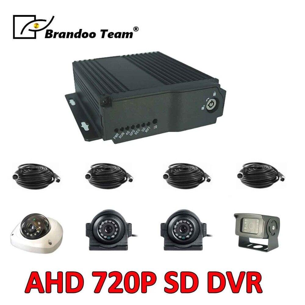 Бесплатная доставка, грузовик CCTV DVR, sd карта Мобильный Dvr AHD видео рекордер 4CH видео/аудио вход Грузовик система безопасности автомобиль Dvr