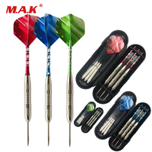 New 3 Color 3 pcs 23g Needle Dart PET Flight Aluminum Shafts Iron Barrel Steel Tip Hard Dart for Indoor Game