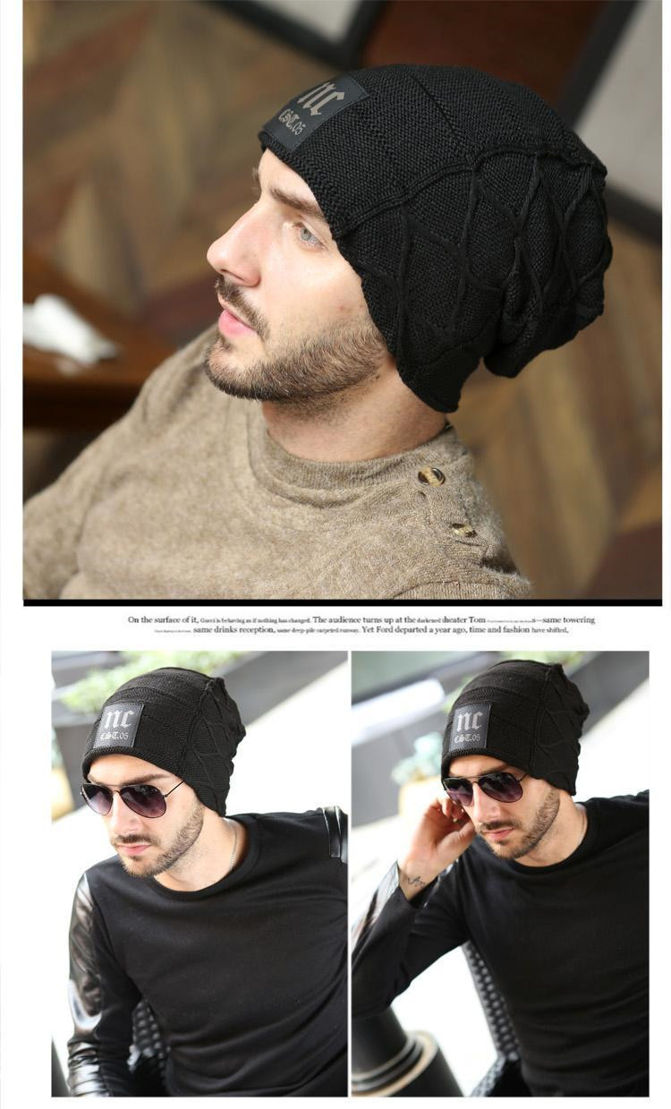 810edfc6e8c2 Fashion Winter Hats For Men 2015 Warm Knitted Wool Hat Trendy ...