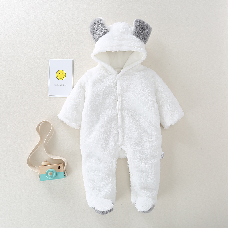 Baby   Rompers   Winter Hoodie Clothes Long Sleeve toddler Jumpsuits Baby boy girl clothes Cotton infant Newborn warm