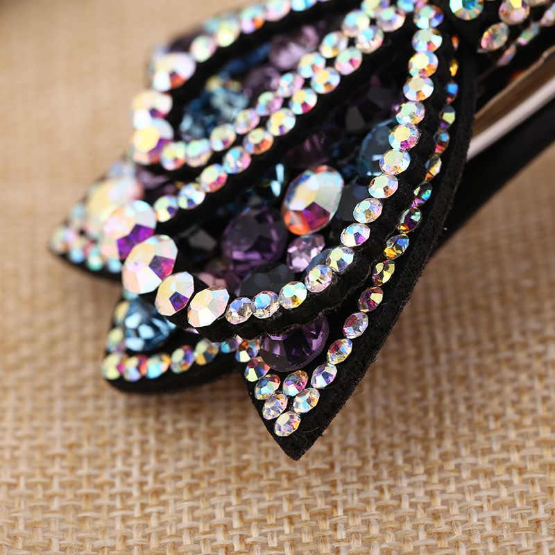 2018 Korea Rambut Klip untuk Gadis Lucu Kristal Berlian Imitasi Mahkota Busur Rambut Pin Wanita Sederhana Fashion Penuh Diamond Aksesoris Rambut