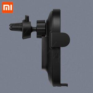 Image 2 - En Stock Xiaomi chargeur de voiture sans fil 20W Max électrique Auto pincement 2.5D anneau de verre Lit pour Mi9 20W chargeur rapide intelligent