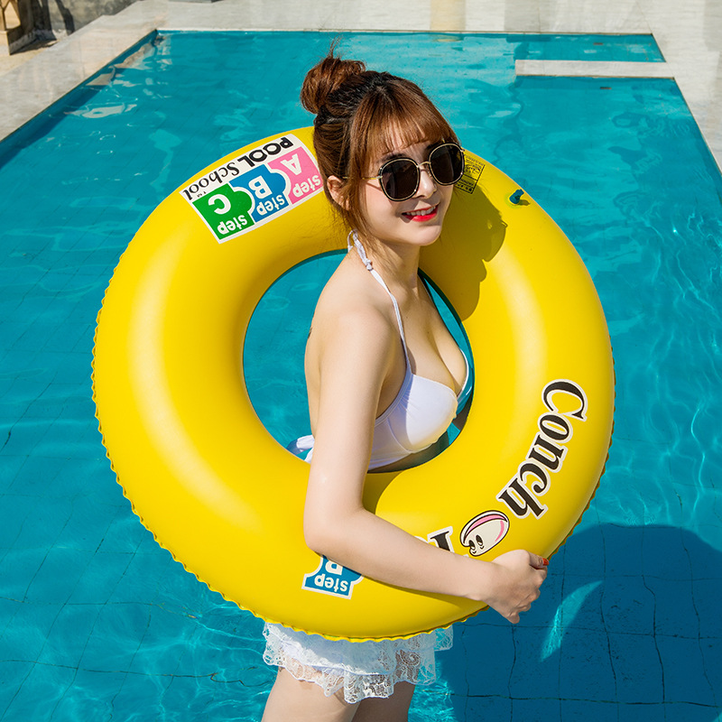 Rooxin Inflatable Swimming Ring For Adult Kids Pool Float Swimming Circle Thickened PVC Floating Ring Baby Seat Pool Party Toys