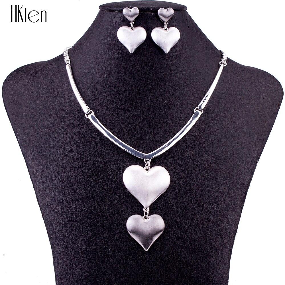 MS1504662 Moda 2 Renk Takı Setleri Yüksek Kalite Kolye Setleri Kadınlar Takı Alaşım Benzersiz Aşk Kalp Tasarım Parti Hediye
