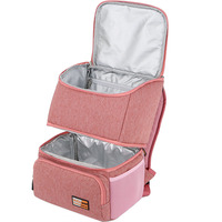 New Large Cooler Bag Women Double Layer Insulated Bags Backpack Ice Pack Food Packing Container Cooler Box Themal Delivery Bag