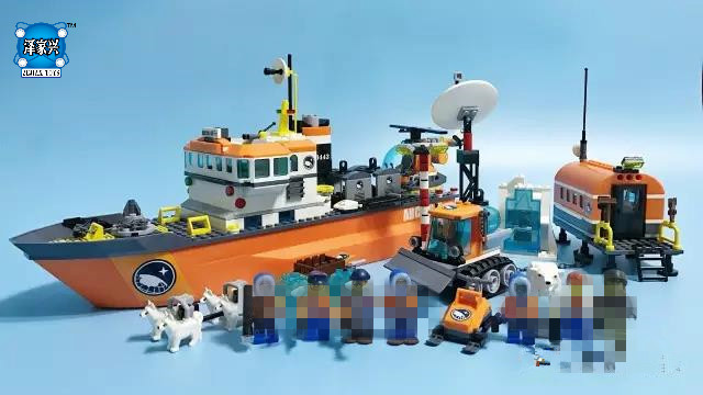 Arctic Icebreaker Building Blocks Model Educational Toys for Children Compatible Lepins City Figure Brick Set 0367 sluban 678pcs city series international airport model building blocks enlighten figure toys for children compatible legoe