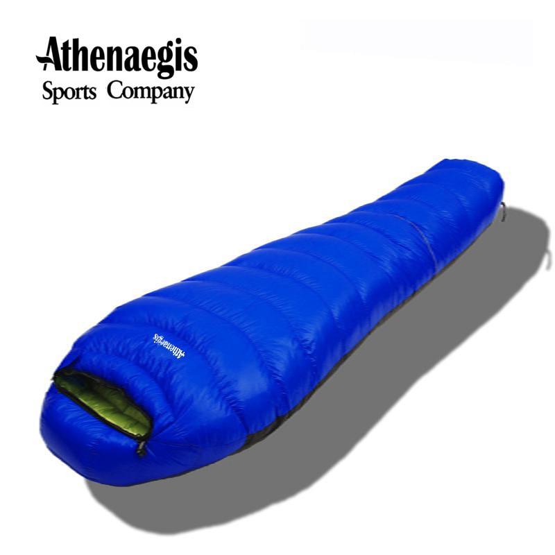 Athenaegis nuevo estilo blanco ganso abajo 1500g/1800g/2000g/2200g saco de dormir de invierno impermeable para adultos