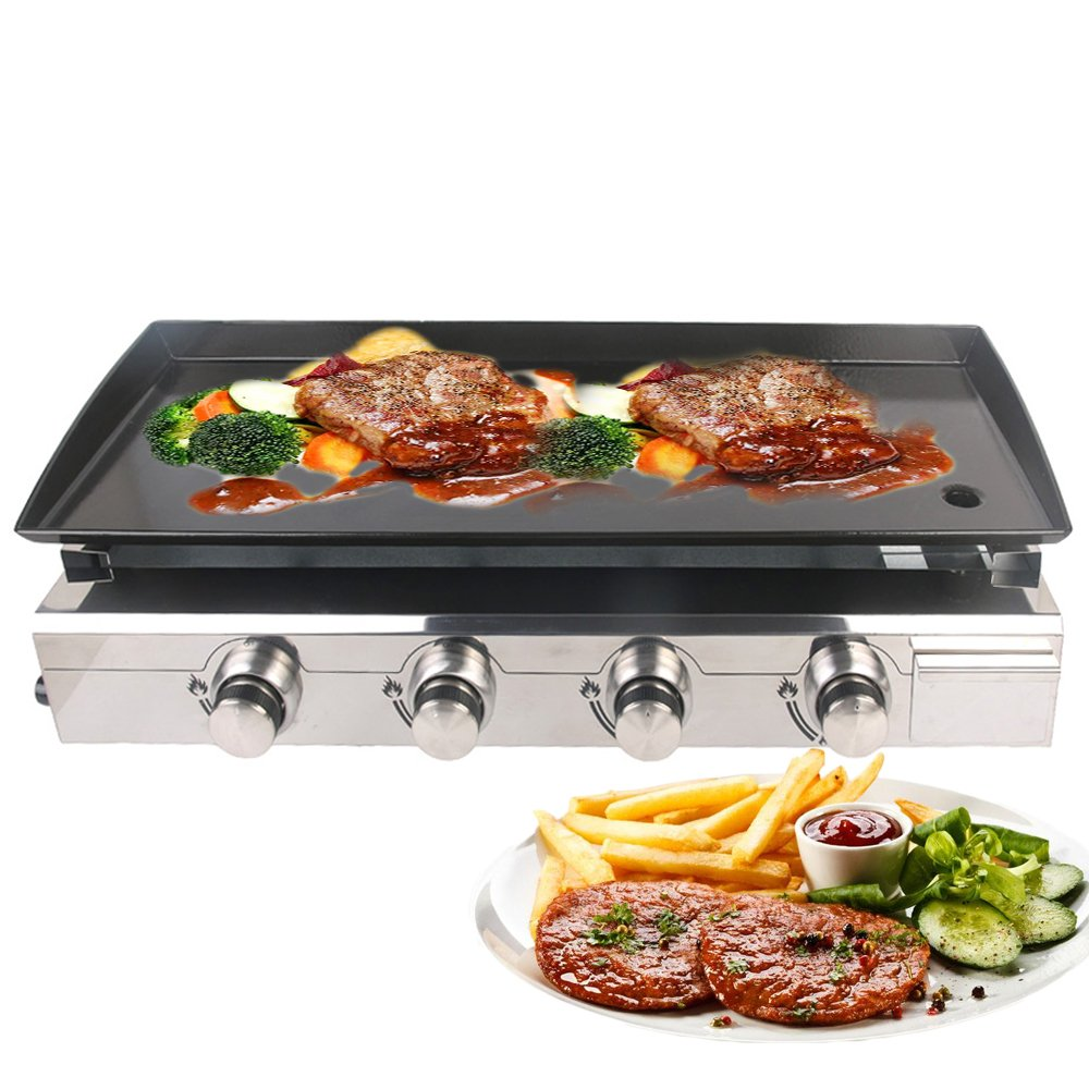 32cm Non Stick BBQ Grill Barbecue Gas Stove Pan Plate Food Meat Broil Rack