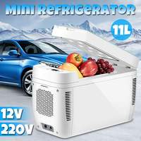 DC 12 В 240 в мини автомобиль двухъядерный холодильник морозильник 11L автомобильный холодильник Компрессор для автомобиля бытовой Пикник вент