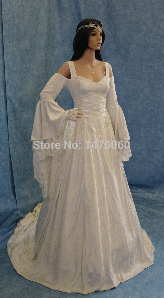 Princess white off the shoulder velvet fancy sexy medieval for Sexy wedding dress costume