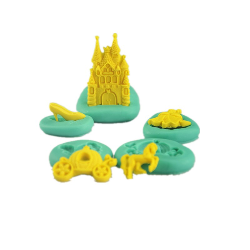 3D Castle Style Cake Mould Decorating Fondant