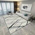 Tapis géométrique Rectangle personnalisé  tapis de Style nordique moderne pour salon canapé Table à café tapis de sol personnalisé décoration de la maison|Tapis| |  -