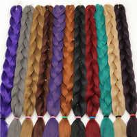 MERISI cheveux 41 pouces tressage synthétique cheveux un Peice 165g Crochet Jumbo tresses Extensions de cheveux 29 couleurs disponibles
