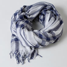 [DIFANNI]New Natural Cotton Scarf Women Men All Match Echarpe Winter Scarf Female Scarves Check Design Plaid Fashion Spring