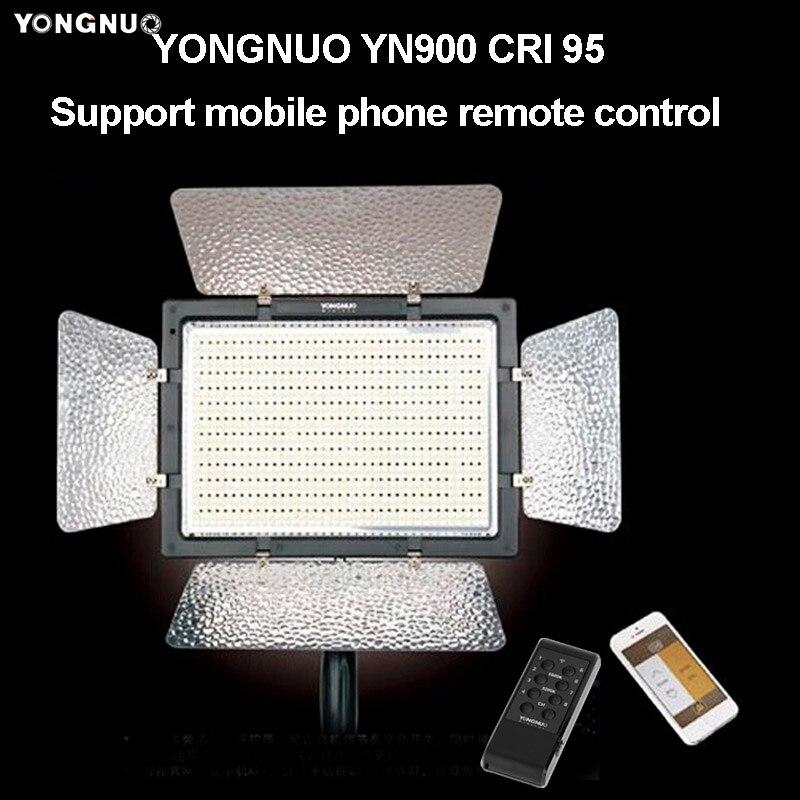 YONGNUO YN900 pour Canon Nikon caméra LED panneau lumineux vidéo CRI 95 + 3200 K-5500 K 7200LM 54 W contrôle sans fil éclairage photographique