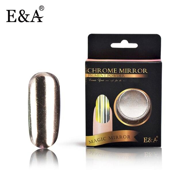 E & a 2g Polvos de maquillaje para Clavos Glitter cromo pigmento ...