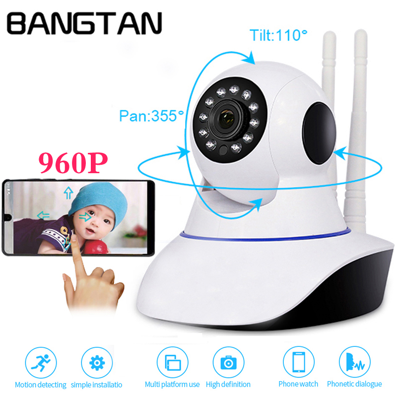 960P Wireless IP Camera Home Wifi Night Vision Camera IP Network Camera Action With Monitor Motion Alarm CCTV WI-FI P2P 1.3MP howell wireless security hd 960p wifi ip camera p2p pan tilt motion detection video baby monitor 2 way audio and ir night vision