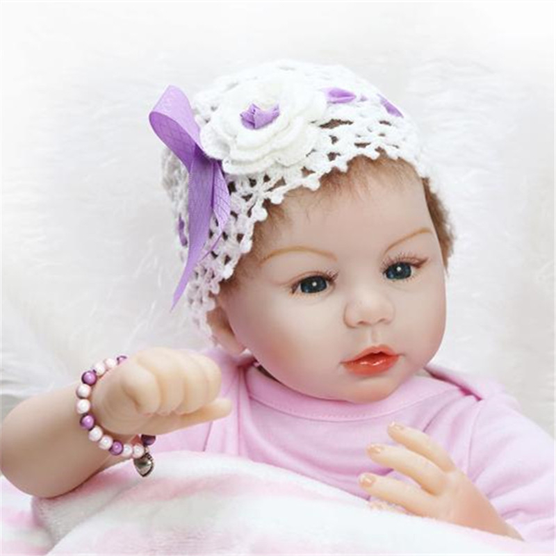 55cm/22 Daddys Little Snow Princess Girl Reborn Dolls Full Body Soft Touch Vinyl Blue Eyes Baby Toys Gift Collection lps pet shop toys rare black little cat blue eyes animal models patrulla canina action figures kids toys gift cat free shipping