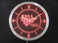 nc0201 Full Tilt Neon Sign LED Wall Clock