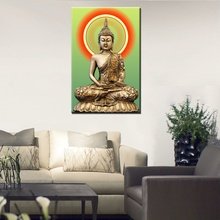 New Sale Golden Buddha Painting Picture Living Room Wall Decor Modern Home Decoration HD Print on Canvas Art Gift