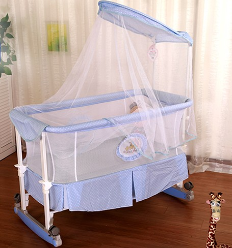 baby cradle rocking bed non wood Yaowo newborn children bed BB gift nets 2017 new babyruler portable baby cradle newborn light music rocking chair kid game swing