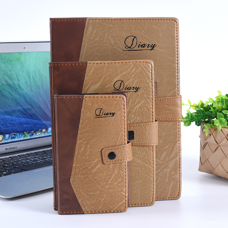 Leather Logo Customize Mini A6 A7 Notebook Planner Office Company Supplies Creative A5 Writing Pads Diary Cheap Gift creative a6 diary with lock pu leather flower notebook school supplies lockable password writing pads notebook girl women gift