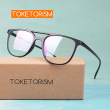 Toketorism vintage spectacle frame double bridge fashion women frames for optical lenses  8442